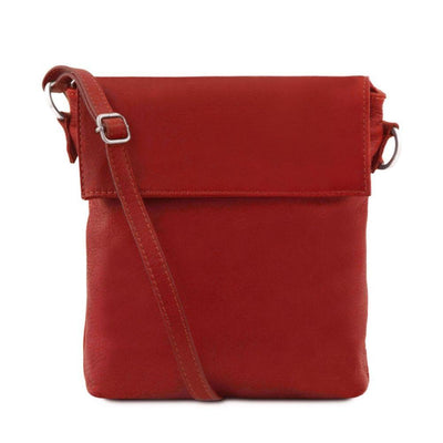 Morgan Leather Crossbody Bag Leather Shoulder Bag TUSCANY LEATHER Red