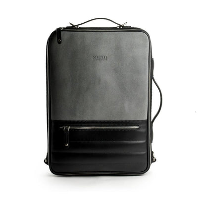 48hr Switch | Black & Graphic Suede Leather Backpack TEMPORARY FOREVERS