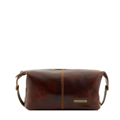 Roxy Toiletry Bag Leather Toiletry Bag TUSCANY LEATHER Brown