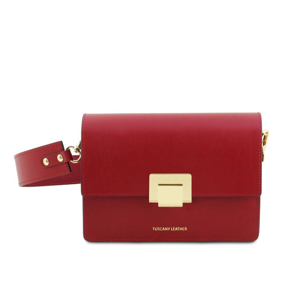 Adele Leather Clutch Leather Clutch TUSCANY LEATHER Red