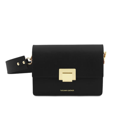 Adele Leather Clutch Leather Clutch TUSCANY LEATHER Black