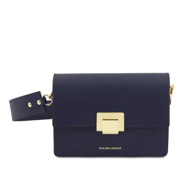Adele Leather Clutch Leather Clutch TUSCANY LEATHER Dark Blue