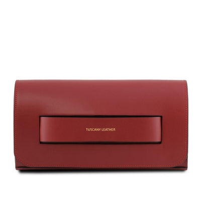 Sophia Leather Clutch Leather Clutch TUSCANY LEATHER Red