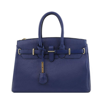 TL Classica Leather Handbag Leather Handbag TUSCANY LEATHER Dark Blue