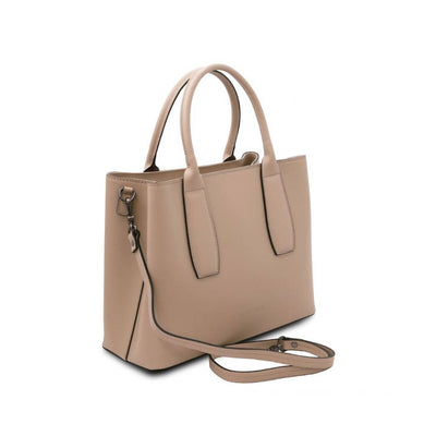 Side View - Ebe Leather Handbag