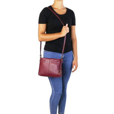 Mini T Soft Leather Shoulder Bag Model