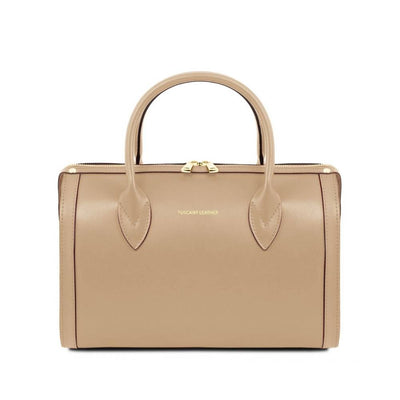 Elena Leather Duffle Bag Champagne