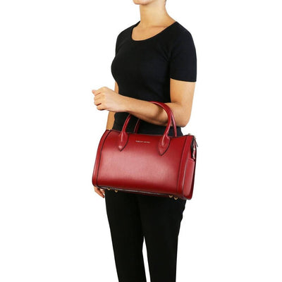 Elena Leather Duffle Bag Model