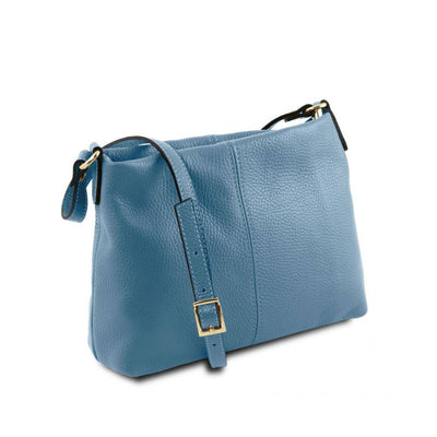 Mini T Soft Leather Shoulder Bag Side View