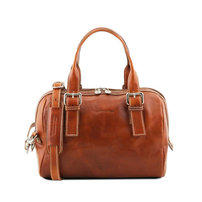 EVELINE LEATHER DUFFLE BAG HONEY TL141714