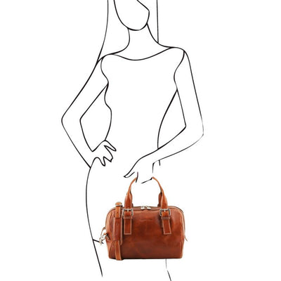 Eveline Leather Duffle Bag