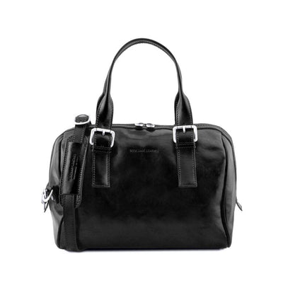 EVELINE LEATHER DUFFLE BAG BLACK TL141714
