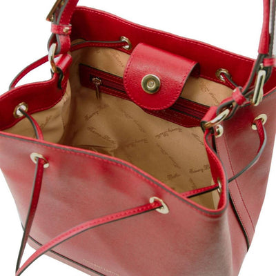 Minerva Saffiano Leather Secchiello Bag - Interior