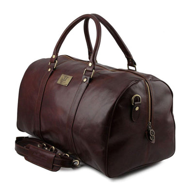 Large Voyager Leather Duffle Bag Leather Duffle Bag TUSCANY LEATHER