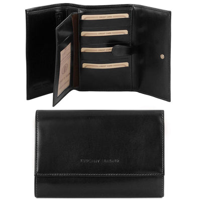 TL Classic Leather Wallet Leather Wallet TUSCANY LEATHER Black