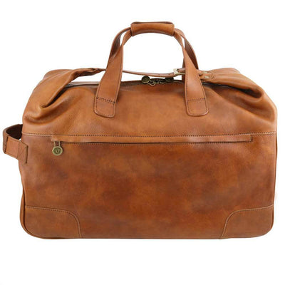 Barbados Leather Trolley Bag Leather Luggage Bag TUSCANY LEATHER