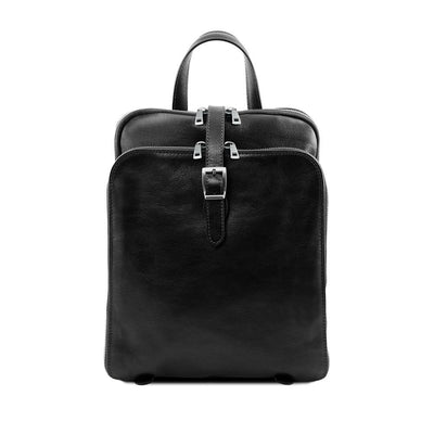 Taipei Leather Backpack Leather Backpack TUSCANY LEATHER Black