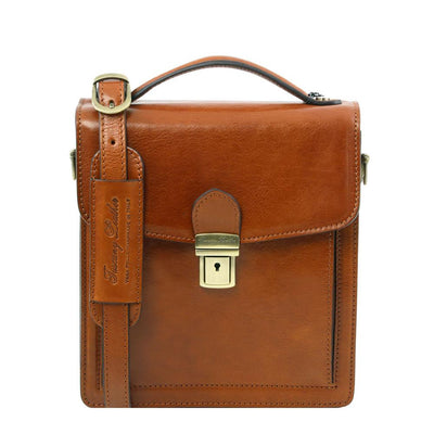 David Crossbody Leather Bag Leather Shoulder Bag TUSCANY LEATHER Small Honey