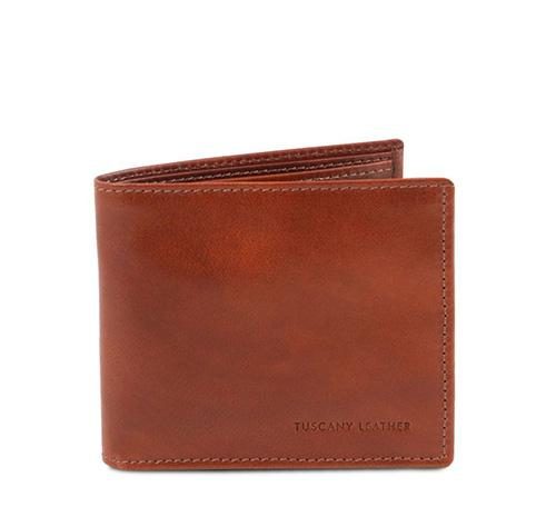 3 FOLD LEATHER WALLET WITH COIN POCKET