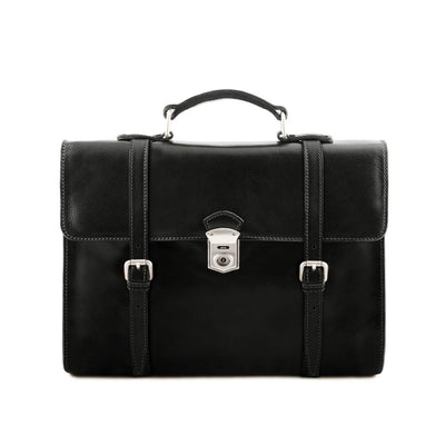 Viareggio Laptop Bag Leather Laptop Bag TUSCANY LEATHER Black