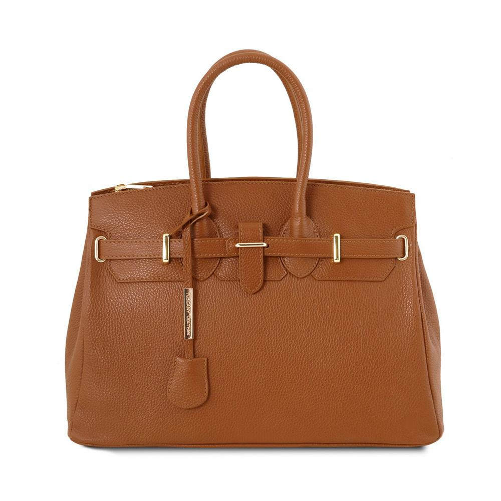 GOLDEN HARDWARE LEATHER HANDBAG