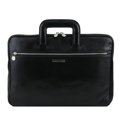 Caserta Document Case Leather Document Case TUSCANY LEATHER Black