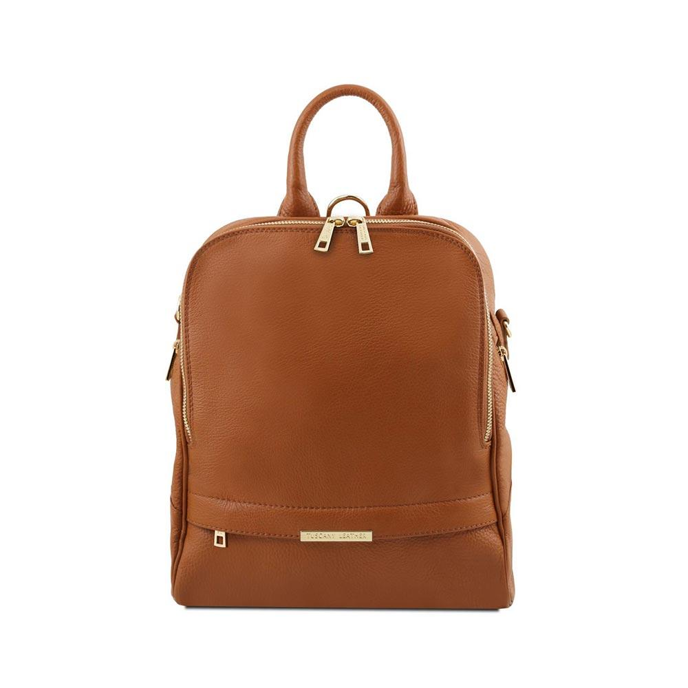 TL Women's Backpack Leather Backpack TUSCANY LEATHER Cognac