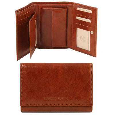 Exclusive Women's Leather Wallet Leather Wallet TUSCANY LEATHER Brown