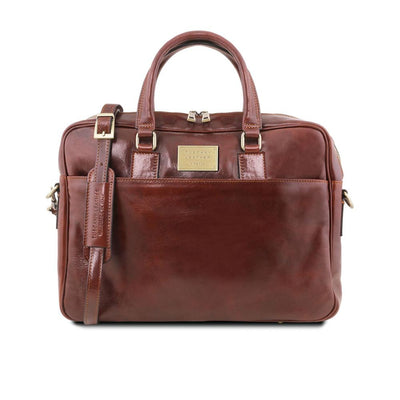 Urbino Laptop Bag Leather Laptop Bag TUSCANY LEATHER Brown