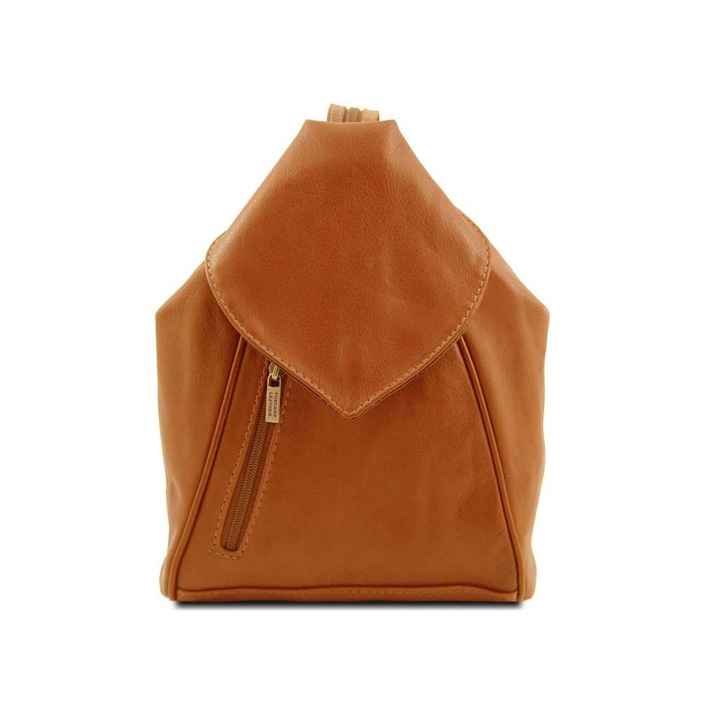 Delhi Women's Leather Backpack Leather Backpack TUSCANY LEATHER Cognac