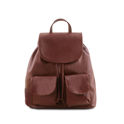 Seoul Leather Backpack Small/Large Leather Backpack TUSCANY LEATHER Small Brown