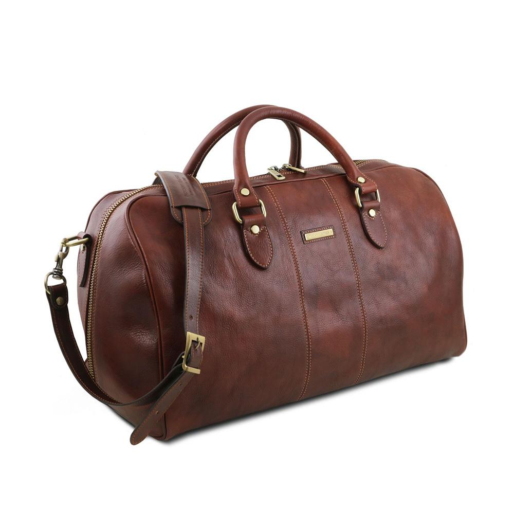 Lisbona Duffle Bag Leather Duffle Bag TUSCANY LEATHER