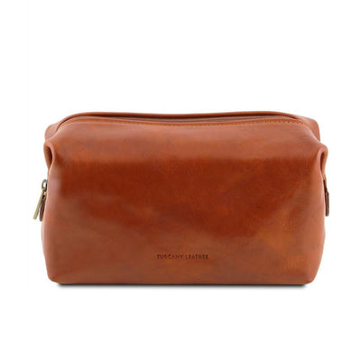 Smarty Leather Toiletry Bag - Large Leather Toiletry Bag TUSCANY LEATHER Honey