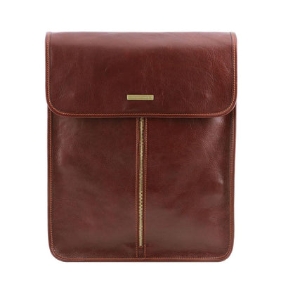 Exclusive Leather Shirt Case Leather Shirt Case TUSCANY LEATHER Brown