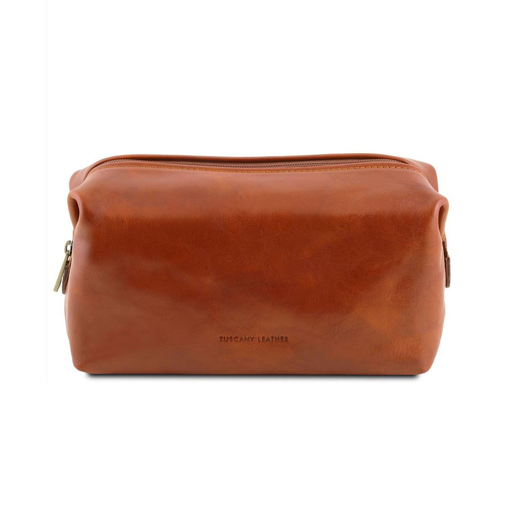 SMARTY LEATHER TOILETRY BAG SMALL