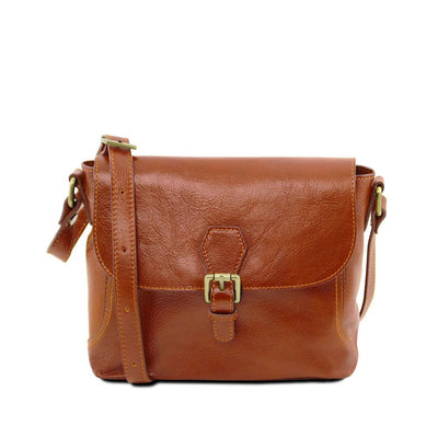 Jody Leather Shoulder Bag Leather Handbag TUSCANY LEATHER Honey