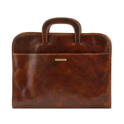 Sorrento Document Case Leather Document Case TUSCANY LEATHER Brown