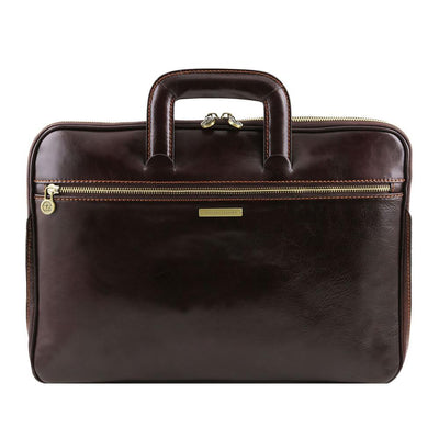 Caserta Document Case Leather Document Case TUSCANY LEATHER Dark Brown