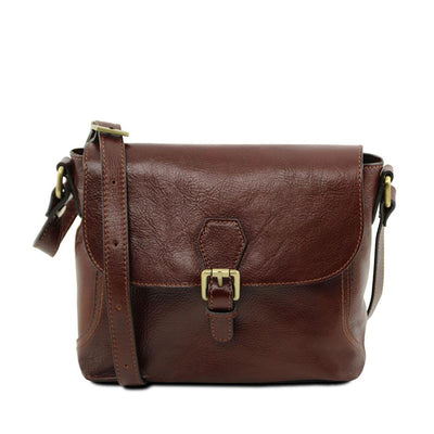 Jody Leather Shoulder Bag Leather Handbag TUSCANY LEATHER Brown