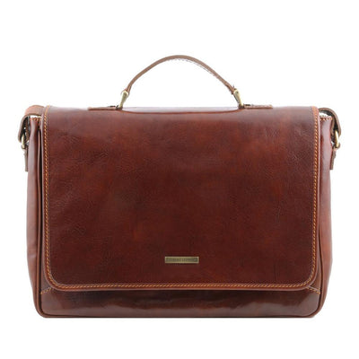 Padova Laptop Bag Leather Laptop Bag TUSCANY LEATHER Brown