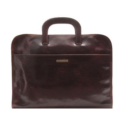 Sorrento Document Case Leather Document Case TUSCANY LEATHER Dark Brown