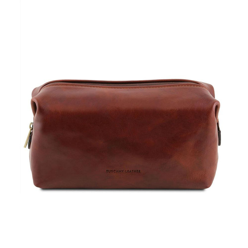 Smarty Leather Toiletry Bag - Small Leather Toiletry Bag TUSCANY LEATHER Honey