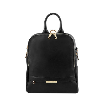 TL Women's Backpack Leather Backpack TUSCANY LEATHER Black