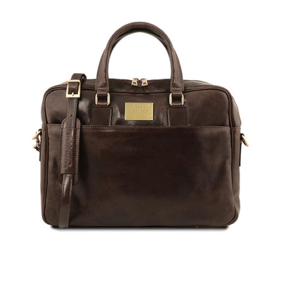 Urbino Laptop Bag Leather Laptop Bag TUSCANY LEATHER Dark Brown