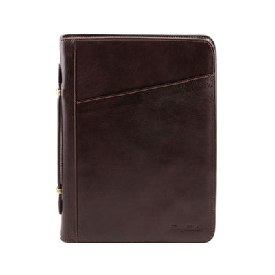 Costanzo Document Case Leather Document Case TUSCANY LEATHER Dark Brown