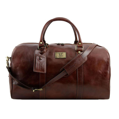 Large Voyager Leather Duffle Bag Leather Duffle Bag TUSCANY LEATHER Brown