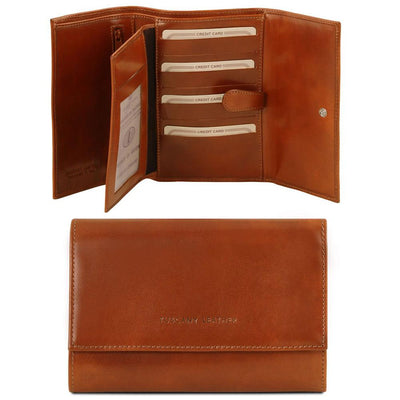 TL Classic Leather Wallet Leather Wallet TUSCANY LEATHER Honey