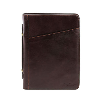 Claudio Document Case Leather Document Case TUSCANY LEATHER Dark Brown