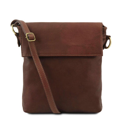 Morgan Leather Crossbody Bag Leather Shoulder Bag TUSCANY LEATHER Brown