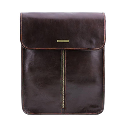 Exclusive Leather Shirt Case Leather Shirt Case TUSCANY LEATHER Dark Brown